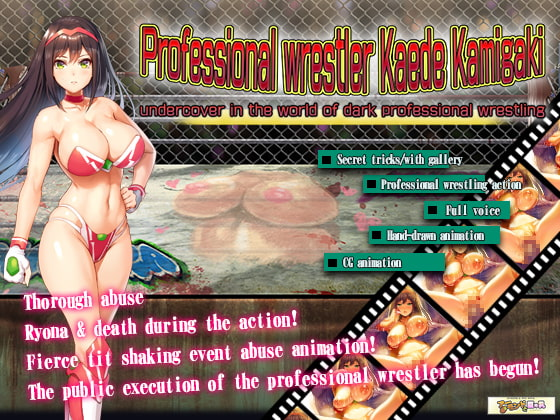 Professional wrestler Kaede Kamigaki - undercover in the world of dark pro wrestling poster